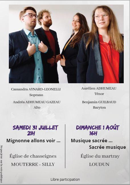 Read more about the article CONCERT » A CAPELLA» du quatuor